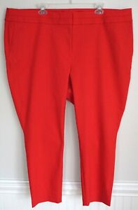 New ANN TAYLOR LOFT Marisa Red Skinny Ankle Stretch Pants Plus Size 22 Nwt