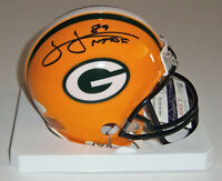 PACKERS James Jones signed mini helmet w/ #89 NTAF JSA COA Autographed AUTO WR