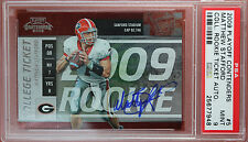 2009 PLAYOFF CONTENDERS COLLEGE Matthew Stafford #5 autograph rookie card PSA 9