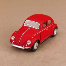 1967 Volkswagen Classic Beetle Matte Red Model 1:32 12cm DieCast PullBack OLP