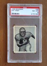 1948 Bowman #38 Pat West PSA 8
