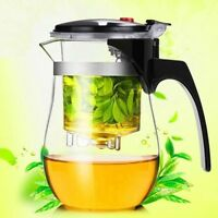 Glass Tea Pot Heat Resistant Coffee Infuser Teapot Leaf Filter Herbal Strainer