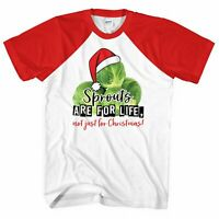 Funny Sprouts are for life not just for Christmas Tshirt Xmas Men Women Brussell