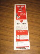 1960 Print Ad Berkley Trilene Fishing Line Casting Tournament Spirit Lake,Iowa