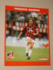 MILAN FRANCO BARESI 1995/96 CARTOLINA POSTCARD CALCIO UFFICIALE