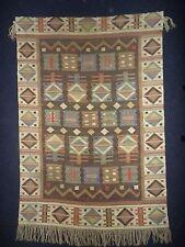 Vtg Marta Maas-Fjetterstrom Flat Weave Rug Carpet Tablecloth Textile Pre 1942