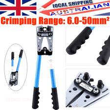 Hand Crimper 6-50 mm² Crimp Tube Terminal Wire Crimping Tool Battery Cable Lug