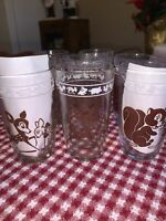 VINTAGE SWANKY SWIG GLASSES KRAFT JUICE GLASS SET OF 8 ANIMALS