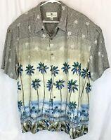 Island Shores XXL Rayon Short Sleeve Hawaiian Shirt Palm Trees Aloha