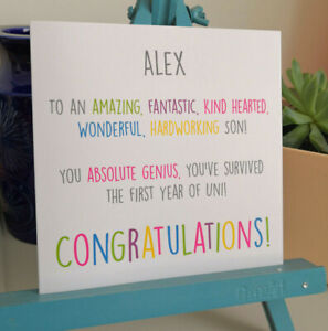 PERSONALISED Handmade Congratulations You've Survived Uni University Passed Card