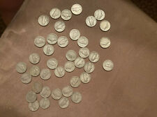 1 ROLL of 40 1943 S Jefferson Silver War Nickels 5c Five Cent Circulated