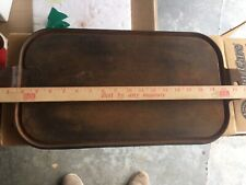 Vintage Unmarked 17 Inch Cast Iron Long Griddle