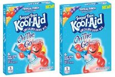 Kool Aid On The Go Sugar Free Tropical Punch Drink Mix Singles 2 Box Pack