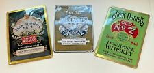 More details for 3 x jack daniels metal signs tin home pub bar wall display two legacy 1 2