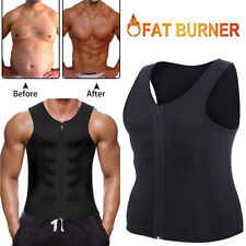 AU Men Body Shaper Gym Neoprene Vest Sauna Ultra thin Sweat Shirt slimming Suits