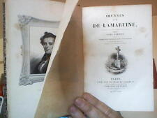 Lamartine :  Oeuvres de M. de Lamartine (4 Tomes - Complet) Tome I : Premières M