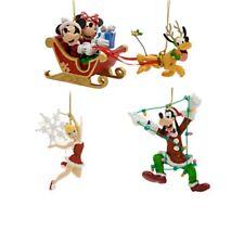 Disney Parks Santa Mickey Minnie & Friends Christmas Ornament Set Pluto Goofy