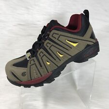 Nautilus Men's Composite Toe Safety Shoe Brown/Red Faux Leather Size 9.5 M