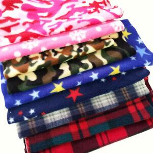 Premium Quality Printed Soft Polar Fleece Fabric CAMO Warm Material By The Metre