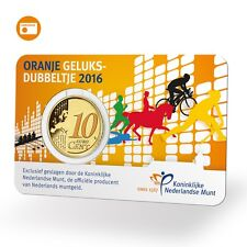 NEDERLAND - COINCARD 10 C 2016 BU - HET ORANJE GELUKSDUBBELTJE 2016