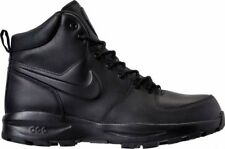 Nike MENS MANOA ACG BLACK LEATHER WORK BOOTS SHOES SZ 10.5 454350-003