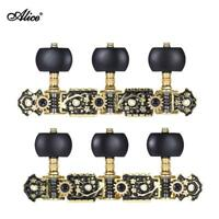 Acoustic Classical Guitar Tuning Pegs String Tuners Machine Heads Black H8Z2