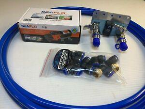 Car & camper fresh water kit -Hose, fittings, pump & 3in1 Wet Spot - FLAT