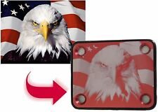 RED Guitar Neck Plate - Free Custom Photo Engraving - 4 Hole Fender Style