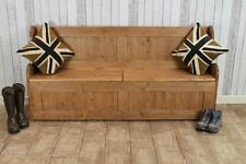 LARGE 6FT HANDMADE PINE HALL SEAT STORAGE BENCH SETTLE MADE IN GREAT BRITAIN