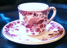 """#GOLD# RED (ROOD) DELFT GOUDA 4.5"""" REGINA CUP & SAUCER  PRICE REDUCED!"""