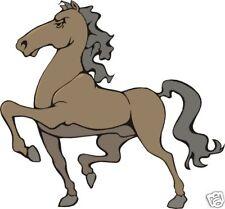 Decalcomanie Adesivi 2 x Divertente Fiera Cavalli Auto Rimorchio Per Cavalli muro Camper Caravan