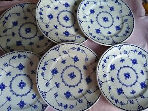 6 Blue Denmark Mason's small side plates