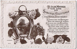 To Dear Mother with love and Sincere Greetings - Vintage Beagles Postcard 1917