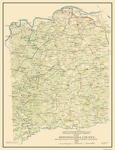 Spotsylvania County Virginia - Campbell 1863 - 23 x 30