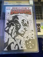 Secret Wars 1 CGC 9.8 7/15 1X Auto & Sketch By Jim Muniz 6/26/15 Variant {CGCB3}