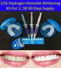 12% Hydrogen Peroxide Teeth Whitening Gel Kit LED Light Tray Bleaching Whitener