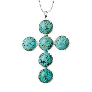 Kim Minchin African Turquoise Cross Large Necklace