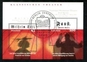 Bund  2391-92  Block 65 ESST Berlin  Wilhelm Tell, Theater 2004