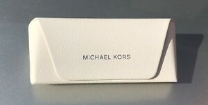 Michael Kors white Womens leather glasses sunglasses case