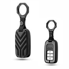 Gun Grey Alloy Black Key Fob Cover Case For Honda Accord CRV HVR XRV Odyssey FIT