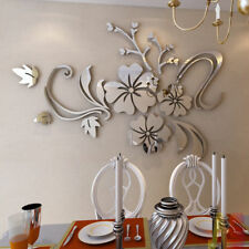 3D Mirror Flower Removable Wall Sticker Art Acrylic Mural Decal Wall Home  Decor Part 87