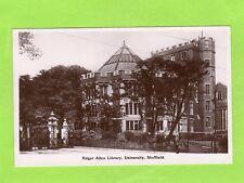 Edgar Allen Library University Sheffield RP pc unused  Ref D422