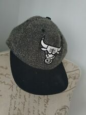 Chicago Bulls Sombrero Gorra De Béisbol Negro Mitchell & Ness