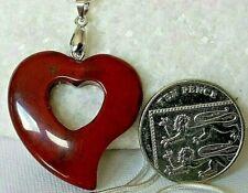 Jaspe Rojo En Forma De Corazón Colgante de piedras preciosas naturales & fianza