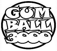 gumball3000 gum ball 3000 sticker pegatina, vinyl, vinilo 18 colores