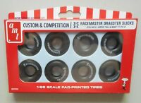 M&H RACEMASTER DRAG SLICK RACING WHEELS TIRES AMT 1:25 CAR MODEL ACCESSORY PP003