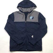 Memphis Grizzlies Adidas Climawarm Mens Jacket Blue Fleece Lined Hooded Zipper M