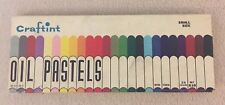 Vintage Craftint Box Of Oil Pastels For Art Projects 24 partially used
