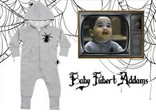 Hooded Addams Family Baby Pubert Spider Rompersuit All In One Halloween 6m-5yrs