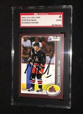 RICK NASH SIGNED 2002/03 O-PEE-CHEE ROOKIE CARD #338 RANGERS SGC AUTHENTICATED